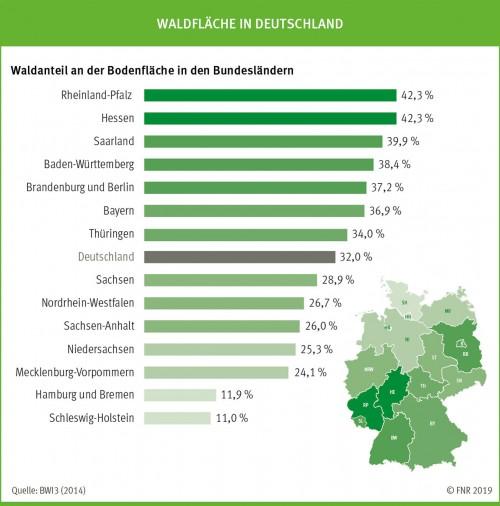 Waldanteil Deutschland